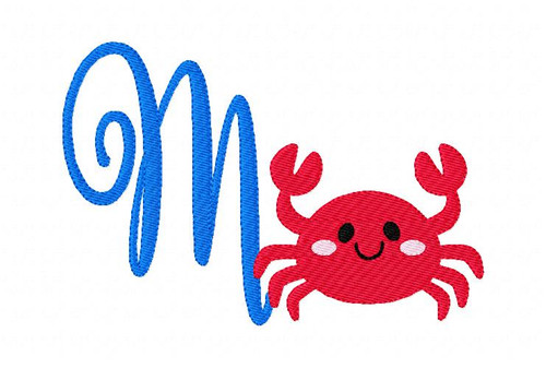 Crab Summer 5x7 Monogram Set