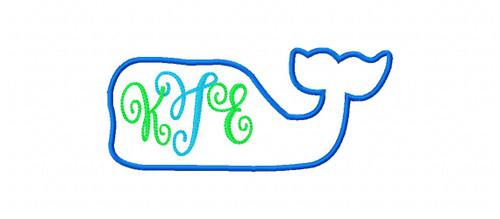 Whale Applique 5x7 Monogram Set