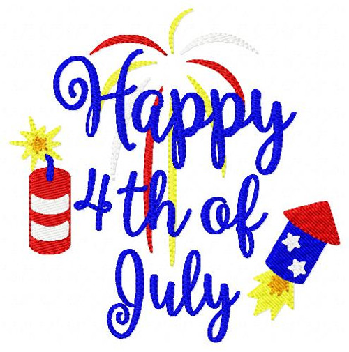 Happy 4th of July Independence Day 5x7