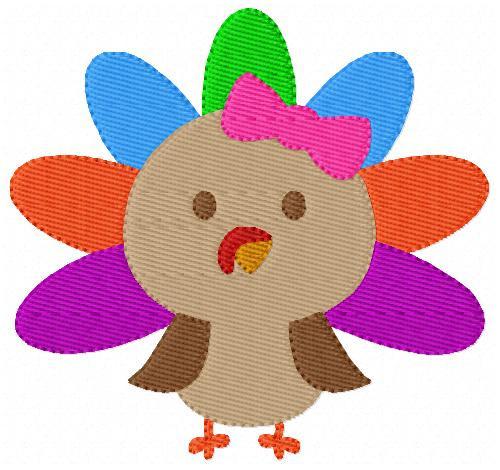 Turkey Thanksgiving Girl