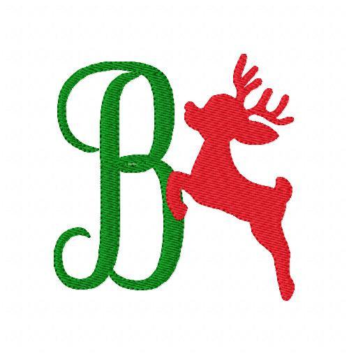 Reindeer Christmas Flight Monogram Set