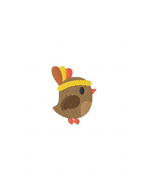 Thanksgiving Birdie Mini Indian