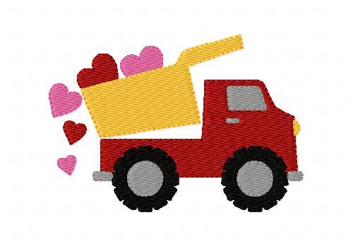Heart Dump Truck Valentines