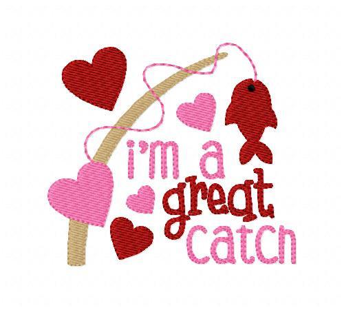Valentine Great Catch Heart Fish