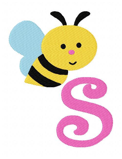 Buzzing Bumble Bee 5x7 Monogram Set