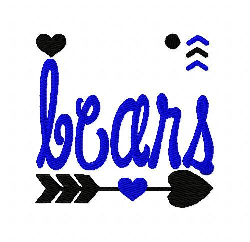 Bears Sports Embroidery Design