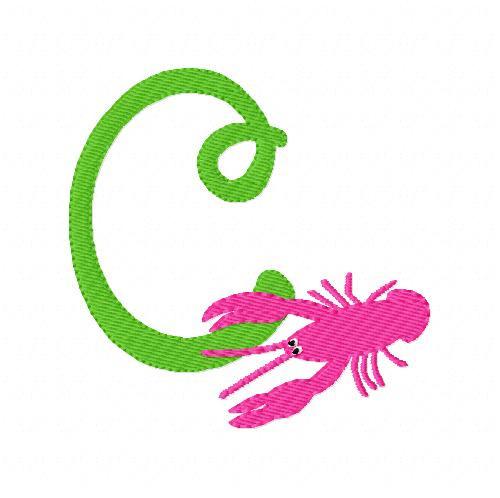 Crawfish Monogram Set