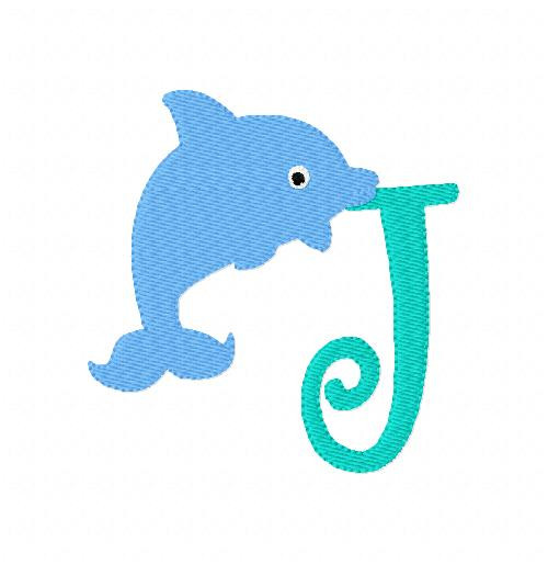 Dolphin Summer Beach Monogram Set