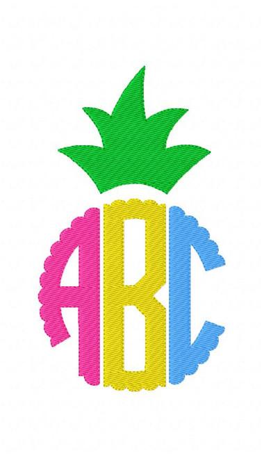 Pineapple Scallop Circle Monogram Set
