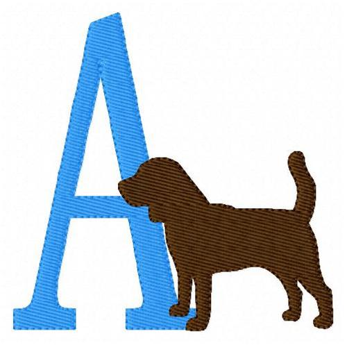 Mocha Dog Labrador Retriever Monogram Font Design Set