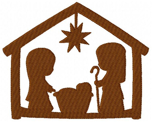 Nativity Silhouette 5x7