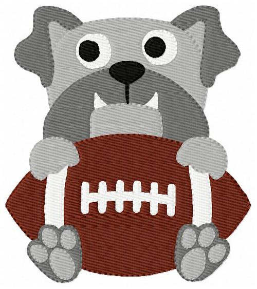 Bulldog Mascot Football Single