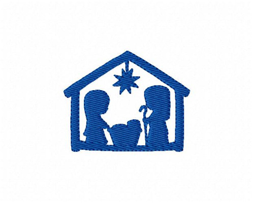 Christmas Nativity Silhouette Small