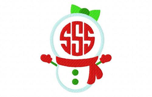 Miss Snowman 3 Letter Monogram Set