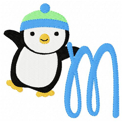 Penguin Happy Dance Monogram Set