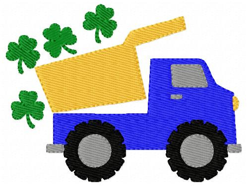 Dump Truck with Clover Shamrocks