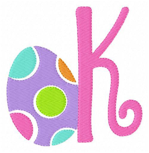 Easter Egg Spring Monogram Set