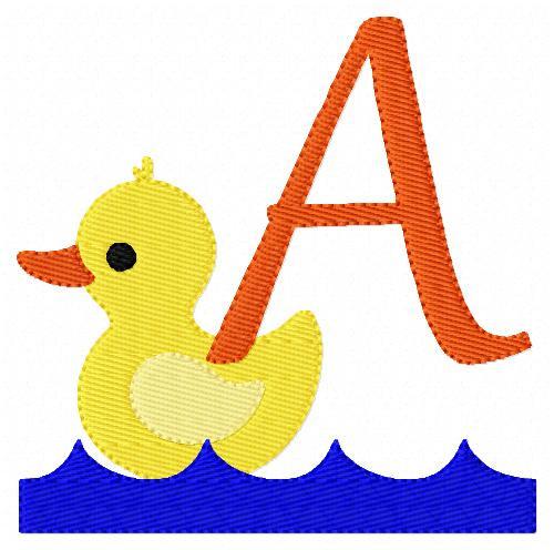 Duckie Monogram Embroidery Design Set
