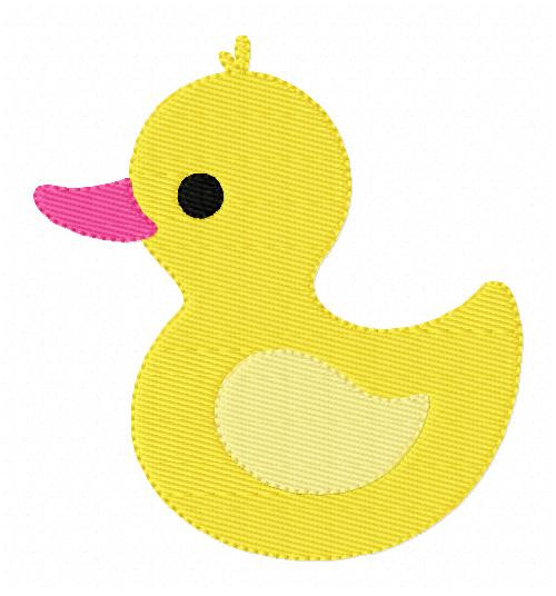 Rubber Duckie Duck Embroidery