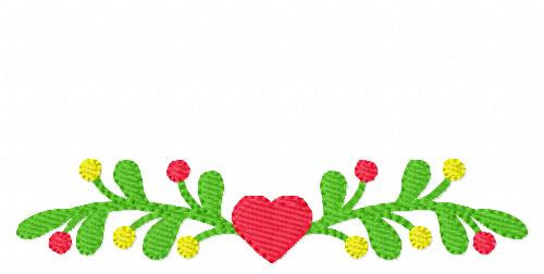 Vine with Heart Embroidery