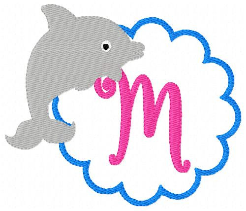 Dolphin Monogram Embroidery Set
