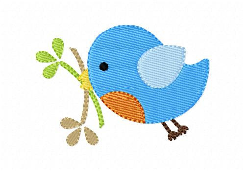 Robin Blue Bird Machine Embroidery Design