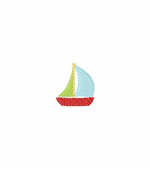 Sailboat Mini Machine Embroidery Design