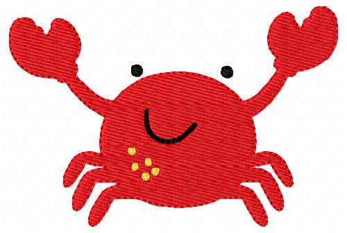 Crab Embroidery Design 2 Sizes