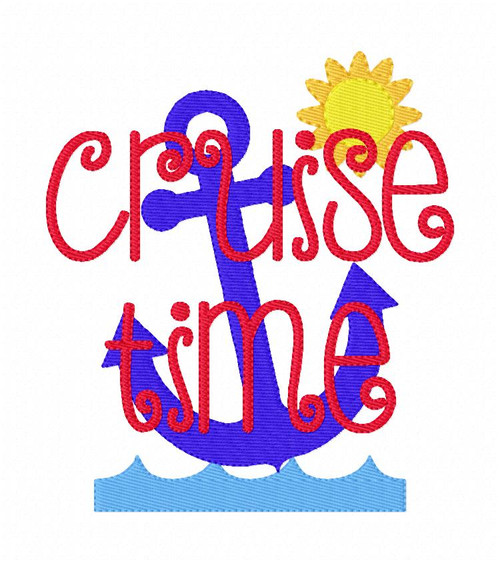 Cruise Time Summer Embroidery Design