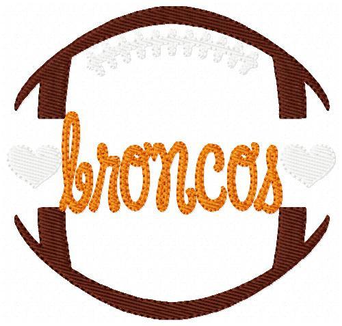 Broncos Football Sports Machine Embroidery Design