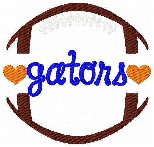 Gators Football Sports Machine Embroidery Design