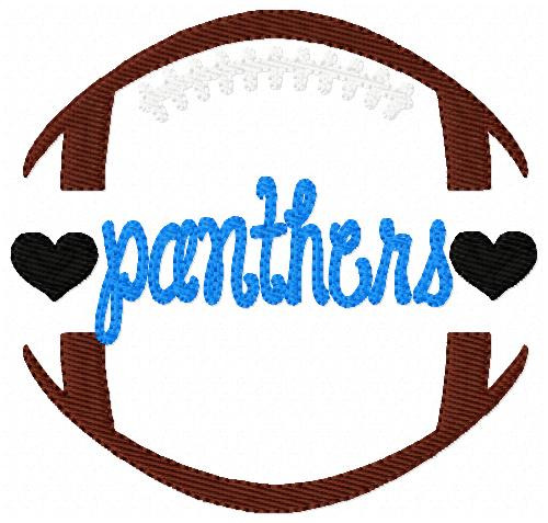 Panthers Sports Football Machine Embroidery Design