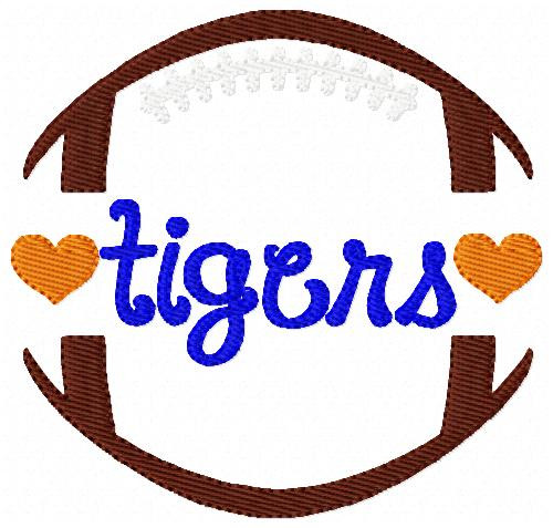 Tigers Football Sports Machine Embroidery Design