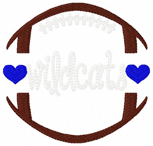Wildcats Football Sports Embroidery Design