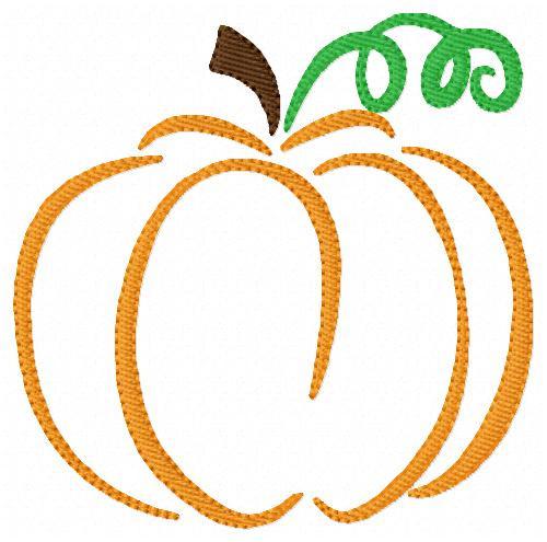 Pumpkin Fall Harvest Embroidery Design