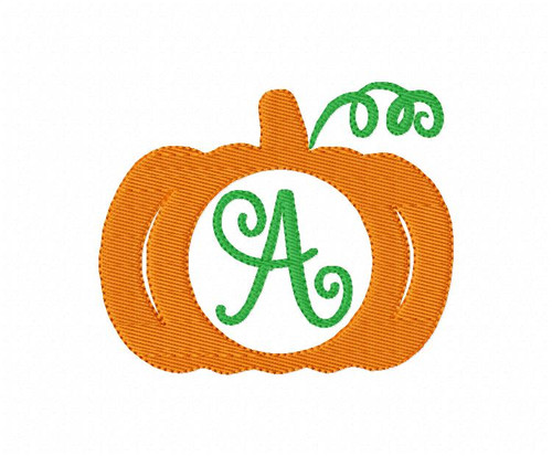 Pumpkin Vine Machine Embroidery Design Font Set