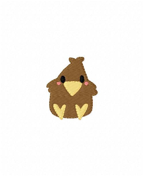 Fall Crow Cutie Machine Embroidery Design