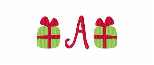 Gift Box Mini Monogram Embroidery Design Set