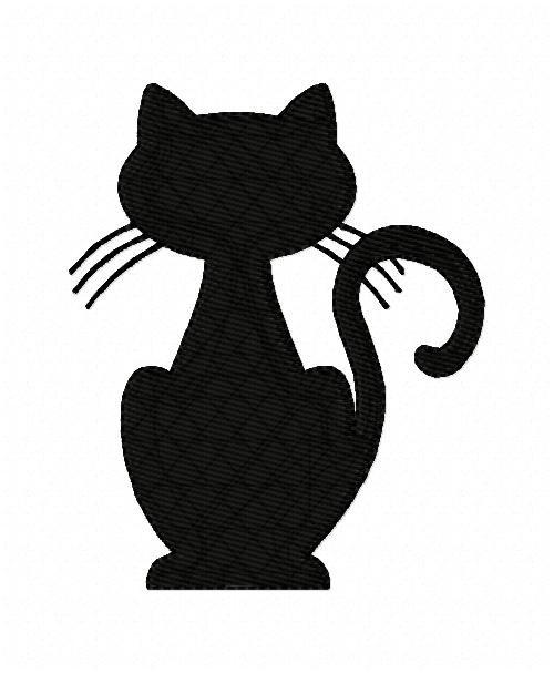 Black Cat Halloween Embroidery Design