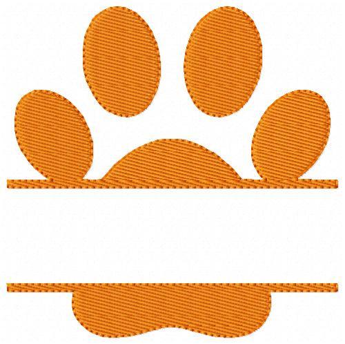 Paw Split Single Embroidery Design