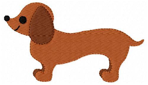 Dachshund Dog Puppy Pet Doggy Embroidery Design
