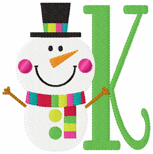 Cheery Snowman Monogram Set