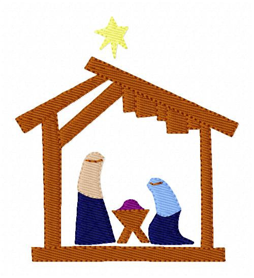 Christmas Nativity Embroidery Design