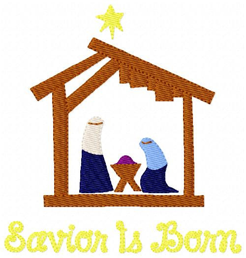 Savior Is Born Nativity Christmas Design
