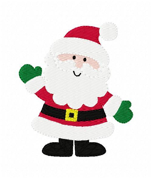 Jolly Santa Christmas Embroidery Design