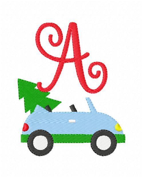 Got the Christmas Tree Monogram Embroidery Design Set