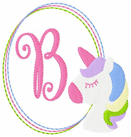 Unicorn Pony Machine Embroidery Monogram Designs Monogram Font Set