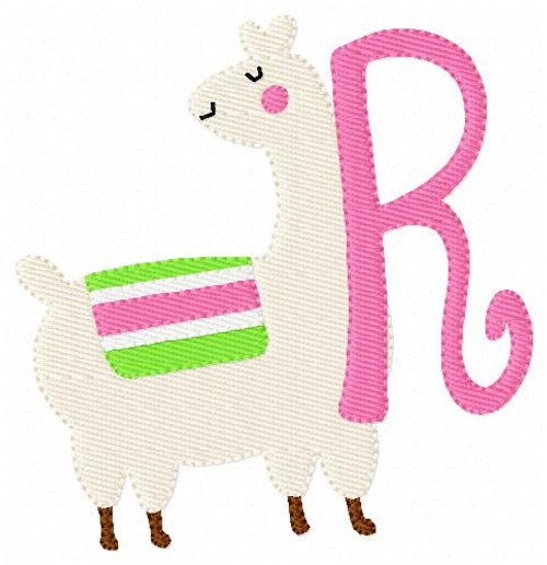 Sassy Llama Machine Embroidery Monogram Font Set