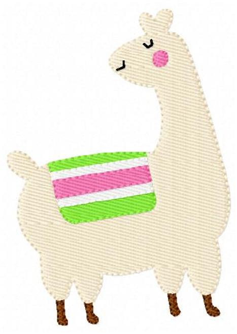 Llama Machine Embroidery Design