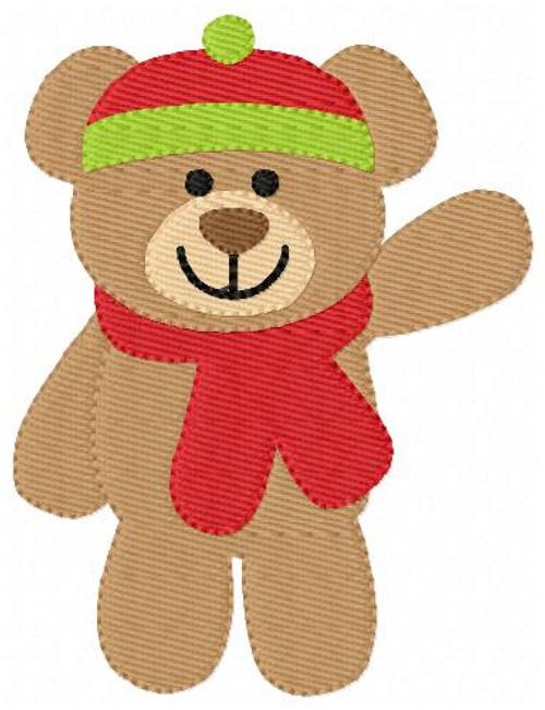 Stuffed Cuddle Bear Machine Embroidery Design Single